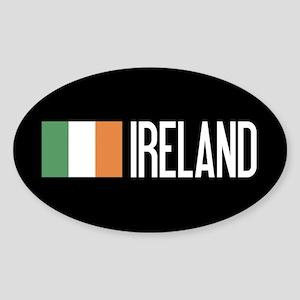 Ireland: Irish Flag & Ireland Sticker (Oval)