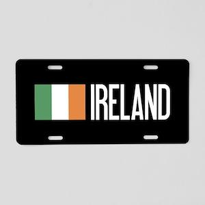 Ireland: Irish Flag & Irela Aluminum License Plate