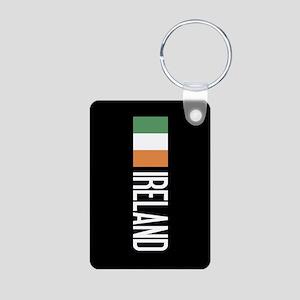 Ireland: Irish Flag & Irel Aluminum Photo Keychain