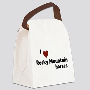 Rocky Mountain horses Canvas Lunch Bag