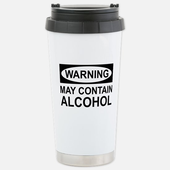 MayContainAlcohol1B.png Stainless Steel Travel Mug
