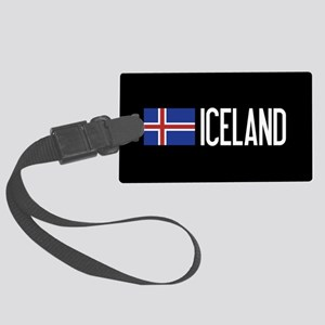 Iceland: Icelandic Flag & Icelan Large Luggage Tag