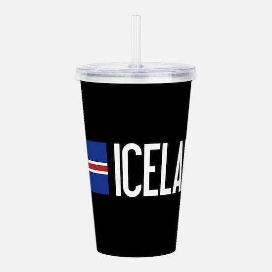 Iceland: Icelandic Fla Acrylic Double-wall Tumbler