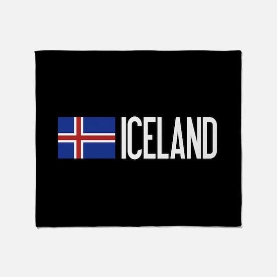 Iceland: Icelandic Flag & Iceland Throw Blanket