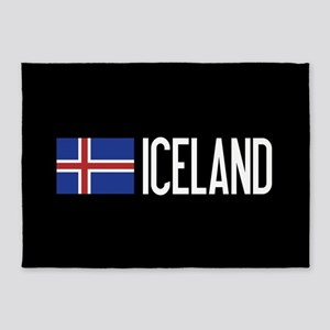 Iceland: Icelandic Flag & Iceland 5'x7'Area Rug