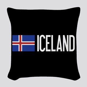 Iceland: Icelandic Flag & Icel Woven Throw Pillow