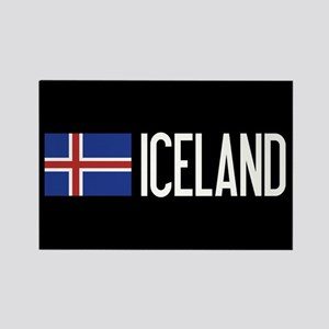 Iceland: Icelandic Flag & Iceland Rectangle Magnet