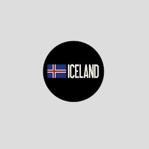 Iceland: Icelandic Flag & Iceland Mini Button