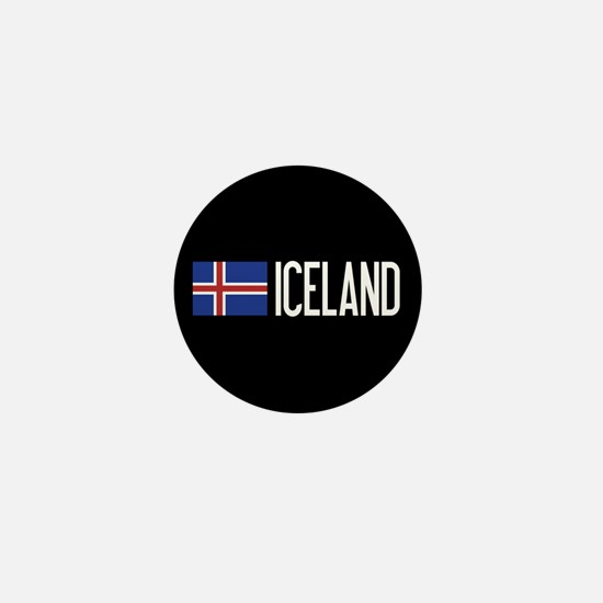 Iceland: Icelandic Flag & Iceland Mini Button
