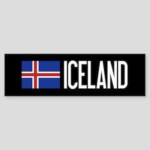 Iceland: Icelandic Flag & Iceland Sticker (Bumper)