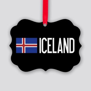 Iceland: Icelandic Flag & Iceland Picture Ornament