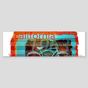 CALIFORNIA BAY CRUISER Beach Cities Bumper Sticker