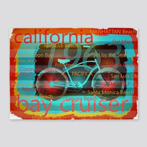 CALIFORNIA BAY CRUISER Beach Cities 5'x7'Area Rug