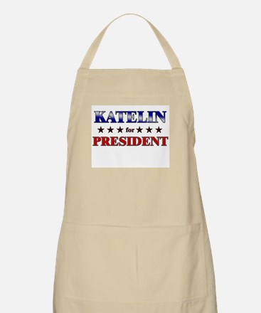 KATELIN for president BBQ Apron
