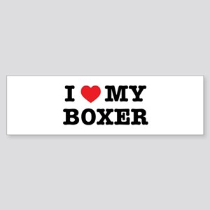 I Heart My Boxer Bumper Sticker