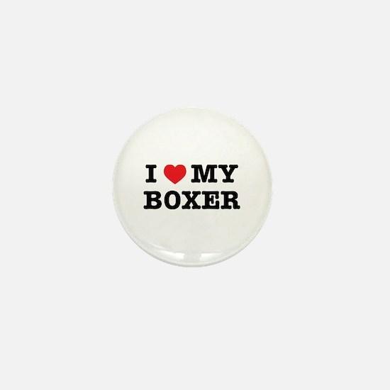 I Heart My Boxer Mini Button