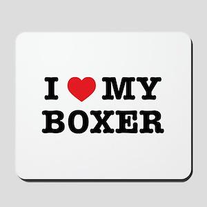 I Heart My Boxer Mousepad