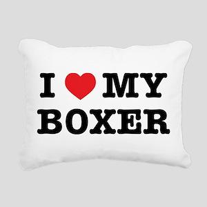 I Heart My Boxer Rectangular Canvas Pillow