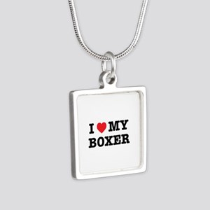 I Heart My Boxer Necklaces