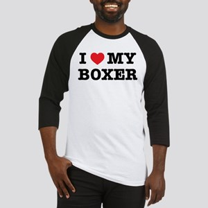 I Heart My Boxer Baseball Jersey