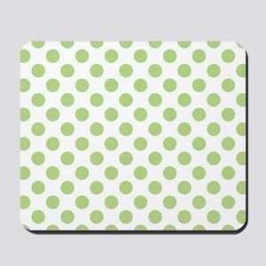 Light Green Polka Dot Print Mousepad