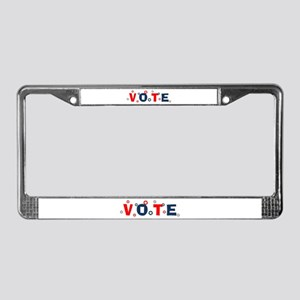 Vote License Plate Frame