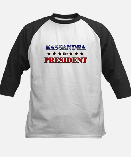 KASSANDRA for president Kids Baseball Jersey