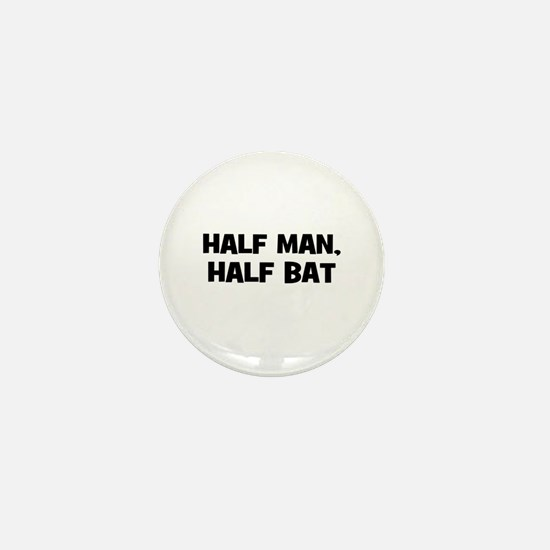 half man, half bat Mini Button