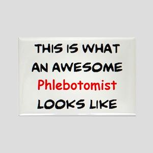awesome phlebotomist Rectangle Magnet
