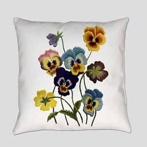 PARADE OF PANSIES Everyday Pillow