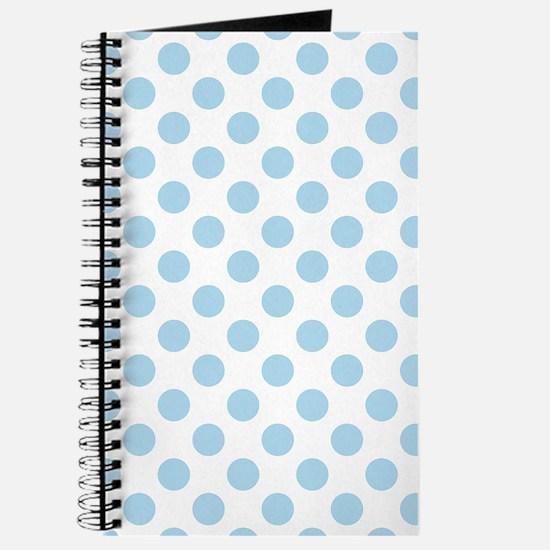 Light Blue Polka Dots Journal