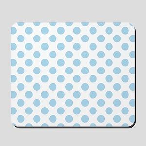 Light Blue Polka Dots Mousepad