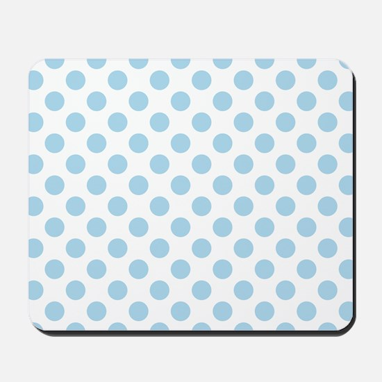 Light Blue Polka Dots Mousepad