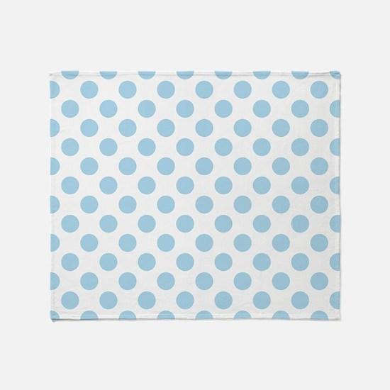 Light Blue Polka Dots Throw Blanket