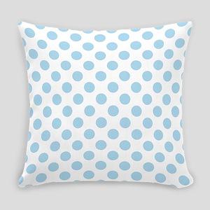 Light Blue Polka Dots Everyday Pillow