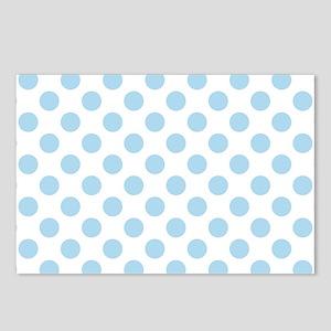 Light Blue Polka Dots Postcards (Package of 8)