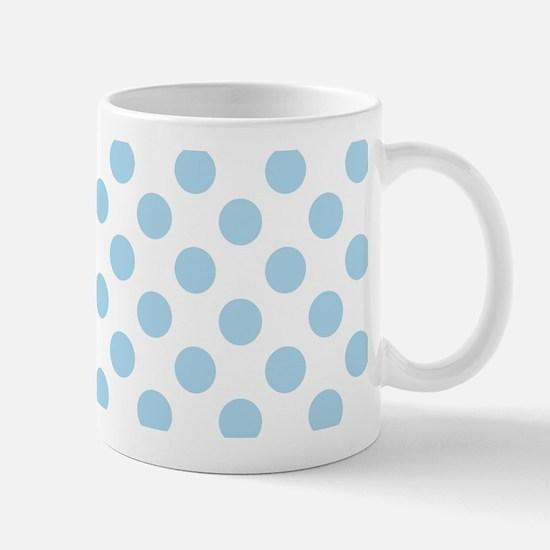 Light Blue Polka Dots Mugs