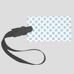 Light Blue Polka Dots Large Luggage Tag