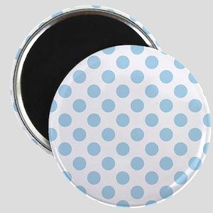 Light Blue Polka Dots Magnets