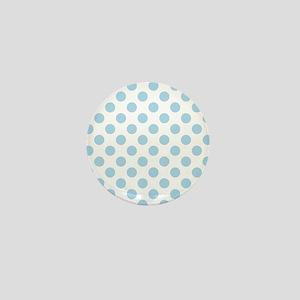 Light Blue Polka Dots Mini Button