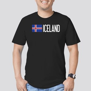 Iceland: Icelandic Fla Men's Fitted T-Shirt (dark)