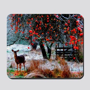 Deer in Orchard Mousepad