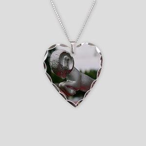 Ram old car hood ornament Necklace Heart Charm
