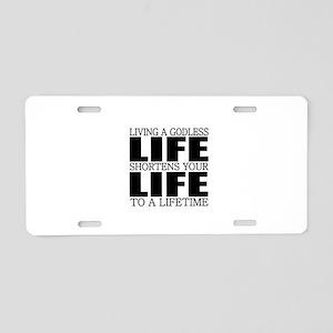 religion beliefs Aluminum License Plate