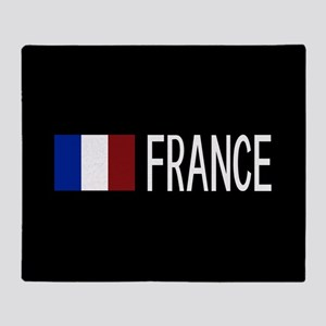 France: French Flag & France Throw Blanket