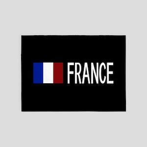 France: French Flag & France 5'x7'Area Rug
