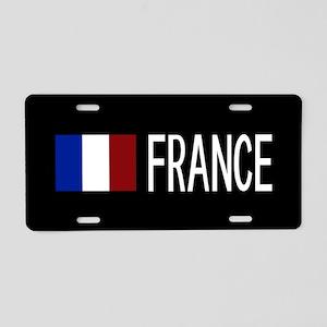 France: French Flag & Franc Aluminum License Plate