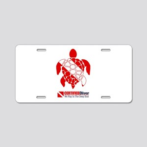 Turtle Dive Flag Aluminum License Plate
