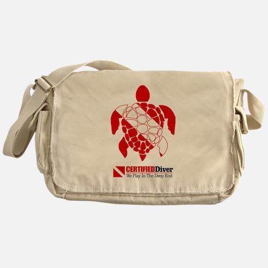 Turtle Dive Flag Messenger Bag