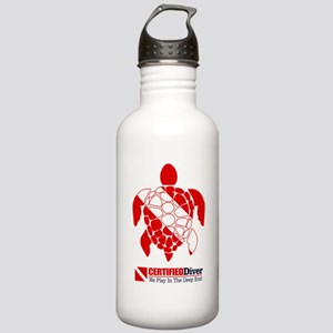 Turtle Dive Flag Water Bottle